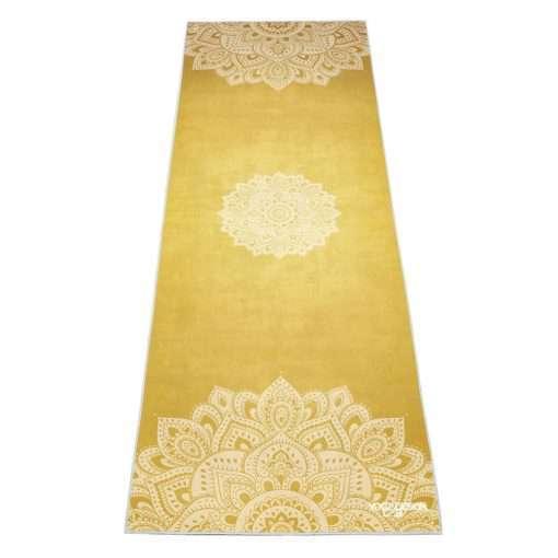 Yoga Design Lab non slip hot yoga towel mandala gold