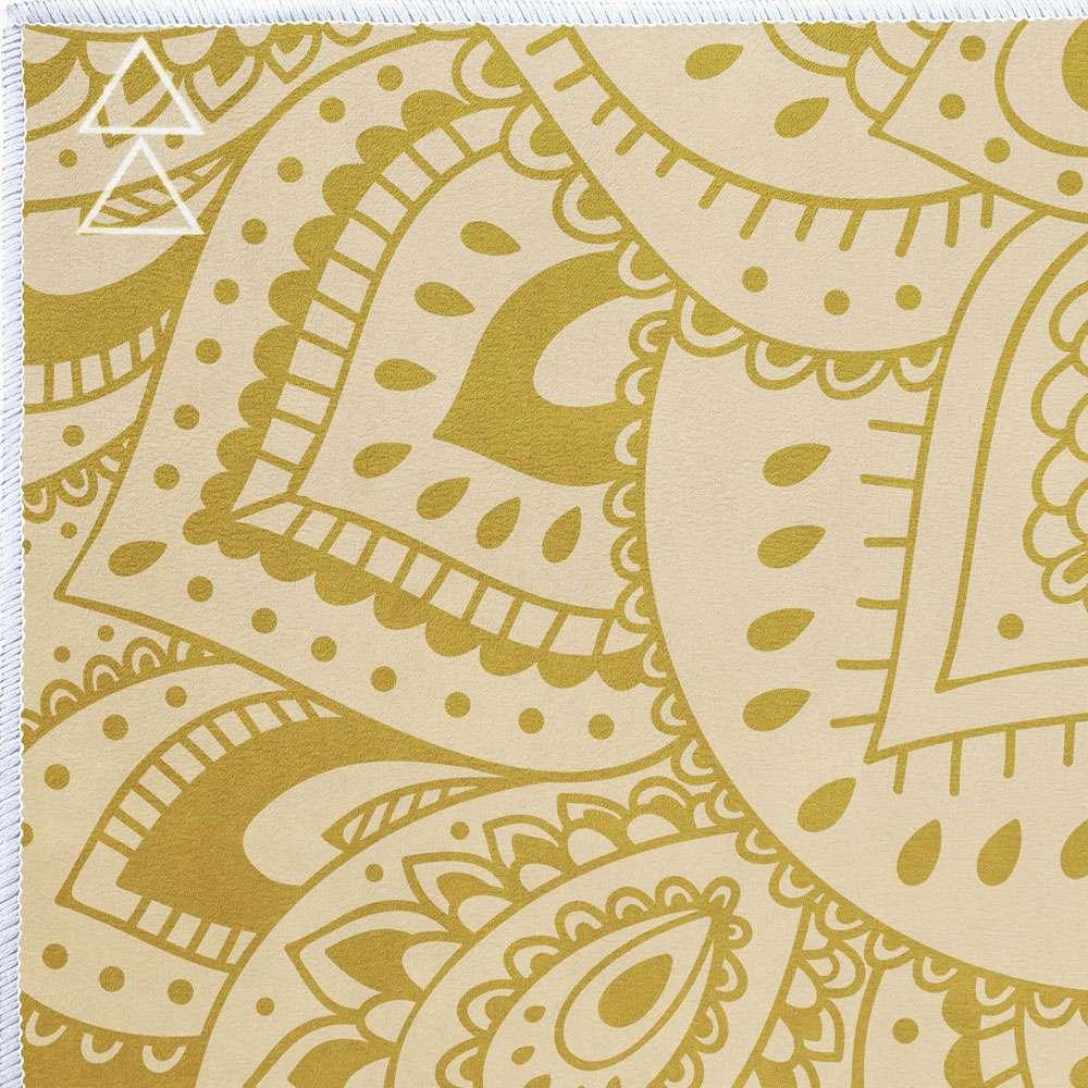 b5904d6ca8 Yoga Design Lab Yoga Towel – Mandala Gold | Yoga Emporium