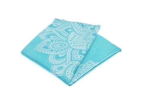 yoga design lab yoga towel mandala turquiose