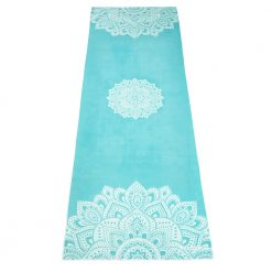 yoga design lab yoga towel mandala turquoise