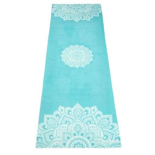 yoga design lab yoga towel mandala turquoise