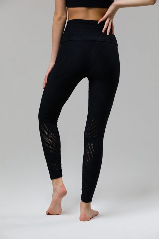 onzie selenite midi yoga leggings black