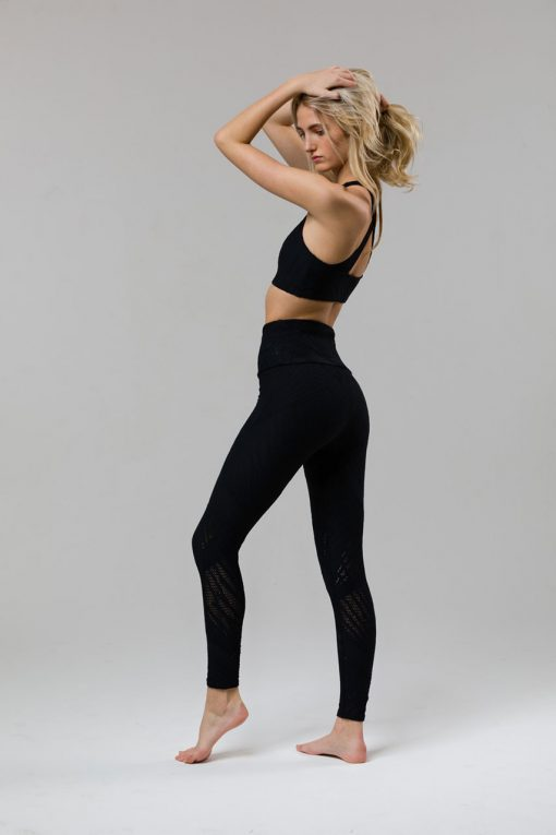 onzie selenite midi yoga leggings black