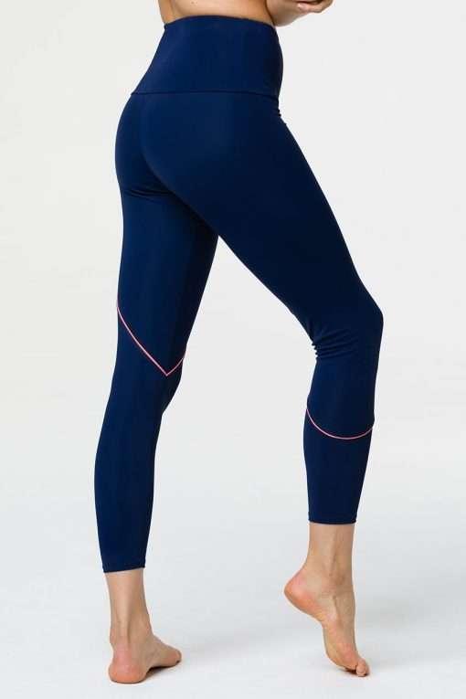 onzie hyper beam navy peach yoga leggingss