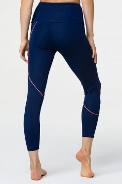 onzie hyper beam navy peach yoga leggingss