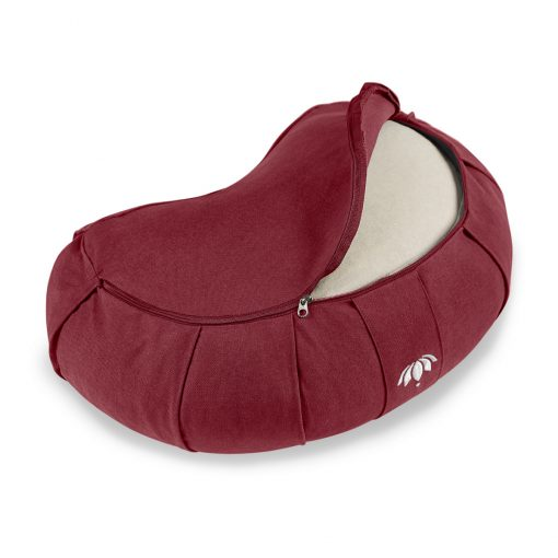 lotuscrafts mediation bordeaux cushion zafu