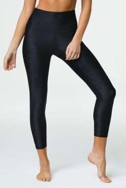 onzie jaquard midi yoga legging black