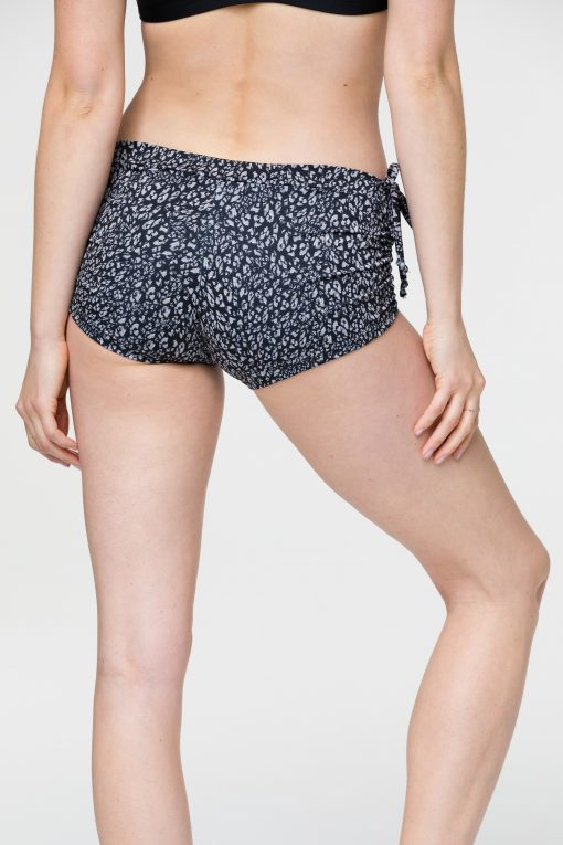 onzie side tie short honey leopard