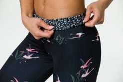 onzie full length yoga leggings pink flamingo print