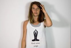 Stray Surf Co And Now Yoga White Vest Top