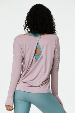 onzie diamond back long sleeved top woodrose