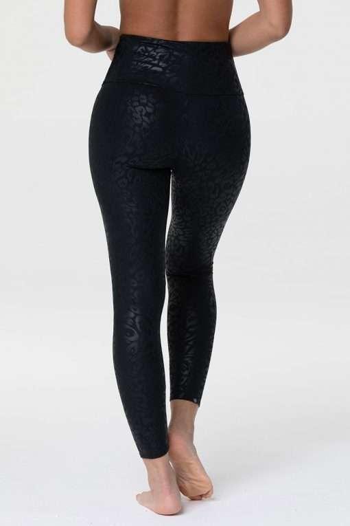 onzie_high_waisted_midi_yoga_leggings_foil_night_leopard_black