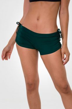 onzie alpine side tie hot yoga shorts