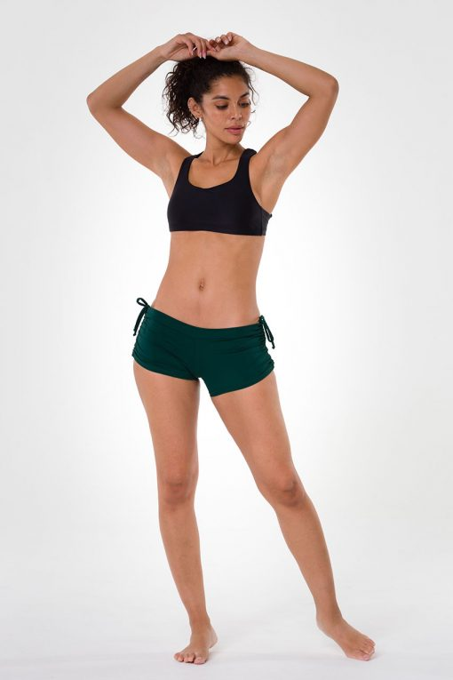 onzie alpine side tie hot yoga shorts