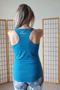 Oceanflow Yogawear Yoga Vest Top deep turquoise