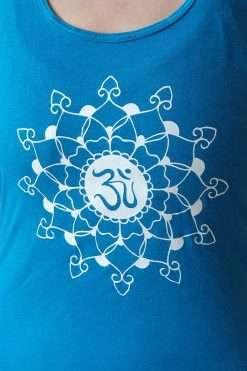 Oceanflow Yogawear Yoga Vest Top deep turquoise mandala