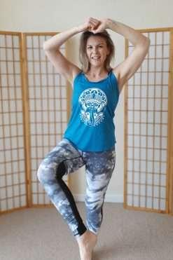 Oceanflow Yogawear Yoga Vest Top deep turquoise ganesh