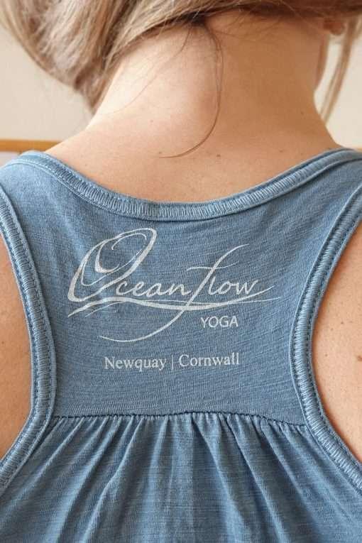 Oceanflow Yogawear Yoga Vest Top denim slub