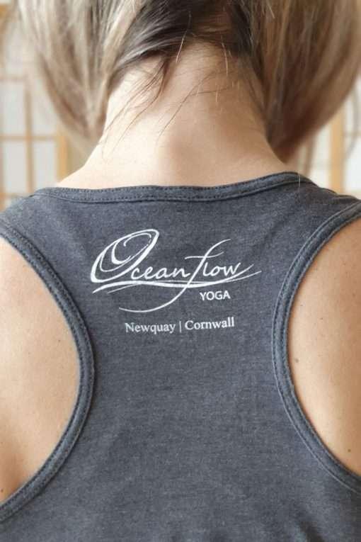 Oceanflow Yogawear Yoga Vest Top charcoal grey