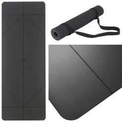 Warrior Addict Alignmnent Yoga Mat - Black
