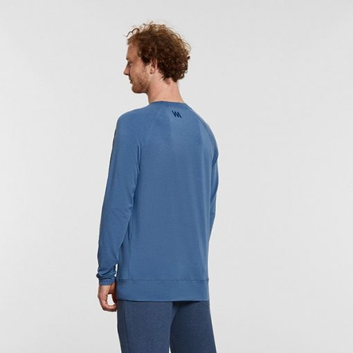 Warrior Addict Mens Yoga long sleeve T shirt its the weekend Blue