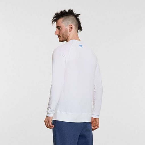 Warrior Addict Mens Yoga long sleeve T shirt its the weekend White