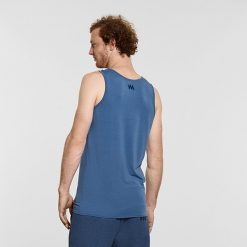 Warrior Addict Mens Yoga Tank Top Blue