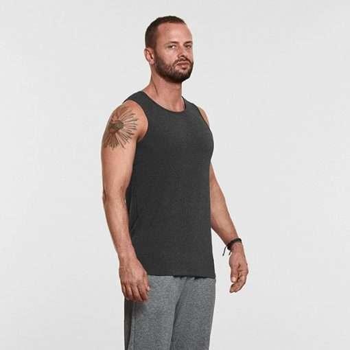 Warrior Addict Mens Yoga Tank Top Grey