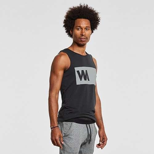 Warrior Addict Mens Inversions Yoga Tank Top Black