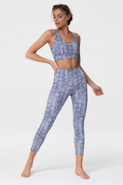 onzie lavender cobra midi yoga leggings