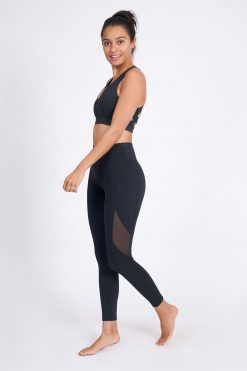dharma bums prophecy laser leggings black