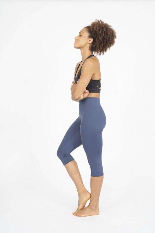 dharma bums indigo crop wonder luxe leggings