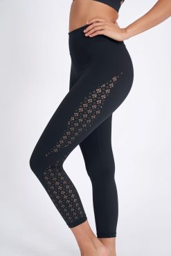 dharma bums laser leggings black