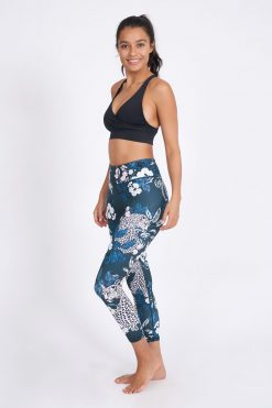 dharma bums yoga leggings jungle nights high waisted recycled