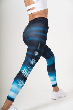 dharma bums yoga leggings lotus high waisted recycled