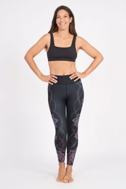 dharma bums yoga leggings acacia high waisted recycled