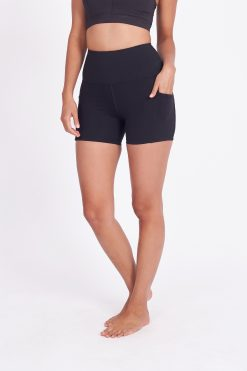 dharma bums chakra supplex plain yoga shorts