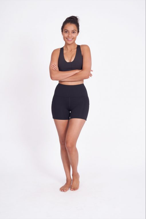 dharma bums chakra supplex plain yoga shorts