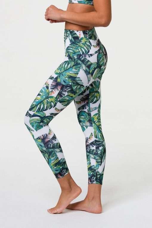 onzie midi yoga leggings tropics