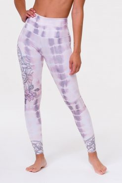 onzie high rise graphic yoga legging tie dye mandala