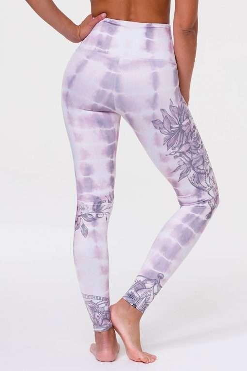 onzie high rise graphic yoga legging tie dye mandala