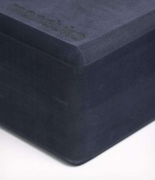manduka recycled foam yoga block brick midnight