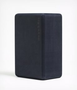 manduka recycled foam yoga block brick midnight