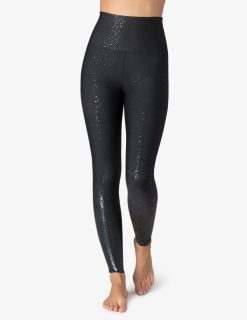Beyond Yoga Leggings Alloy Ombre Black Foil Speckle
