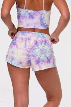 Onzie Divine Yoga Shorts Neon Tie Dye