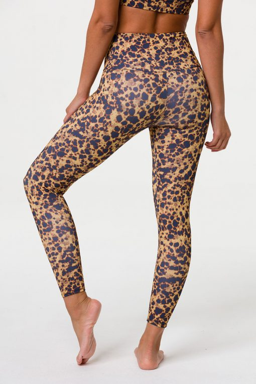 Onzie High Rise Midi Yoga Leggings Tortoise Shell