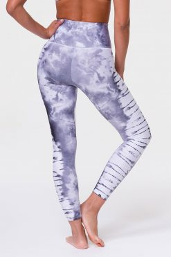 Onzie high rise graphic midi yoga leggings light grey tie dye
