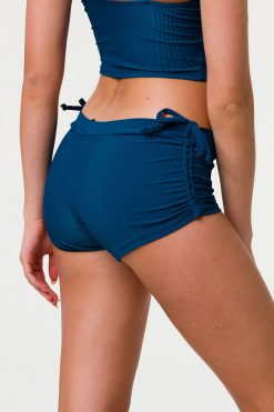 Onzie side tie yoga shorts empathy rib