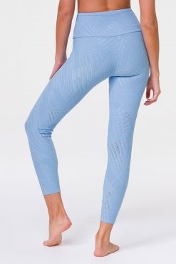 Onzie selenite yoga leggings powder blue
