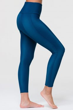 Onzie sweetheart midi yoga leggings empathy rib blue